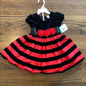"Brand New! ""Little Me"" Black & Red Dress- 2 piece"
